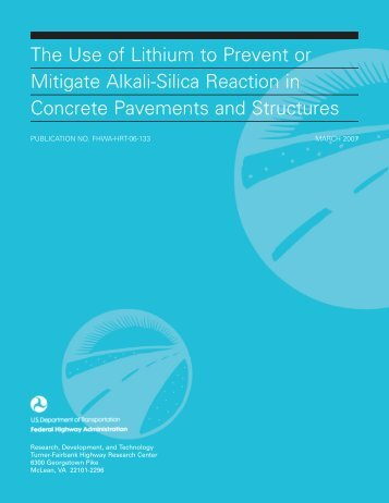 The Use of Lithium to Prevent or Mitigate Alkali-Silica Reaction in ...