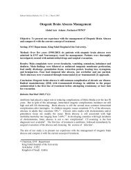 Otogenic Brain Abscess Management - Bahrain Medical Bulletin