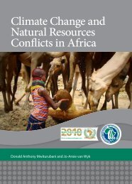 Climate Change and Natural Resources Conflicts in Africa