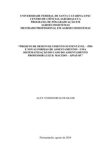 dissertacao versão final - Repositório Institucional da UFSC