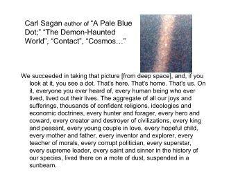 Carl Sagan Pale Blue Dot Book Pdf