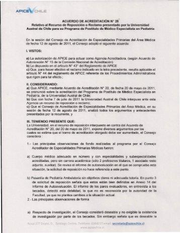 Acuerdo Nº28 - Apice Chile