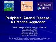 Peripheral Arterial Disease: A Practical Approach - Canada Vascular