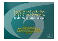 Treatment of aorto-iliac TASC C and D lesions: techniques and results