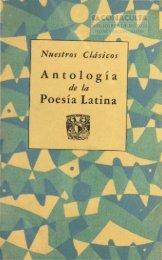 Antología Poesía Latina - Dirección General de Bibliotecas