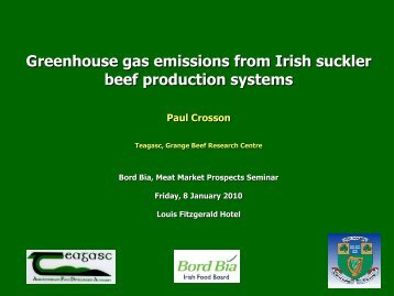 Greenhouse gas emissions from Irish suckler beef - Bord Bia