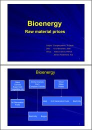 Bioenergy Raw material prices - TU Berlin