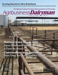 National Dairy Month 2009 - Agribusiness Dairyman