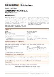 Drinking Water AMBERLITE™ PWA10 Resin - The Dow Chemical ...
