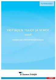 yrittäjien tulot ja verot 2008 yrittäjien tulot ja verot ... - Suomen Yrittäjät