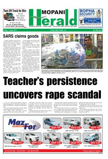 SARS claims goods - Letaba Herald