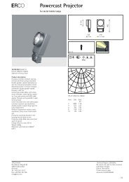 Product spec. sheet - Erco