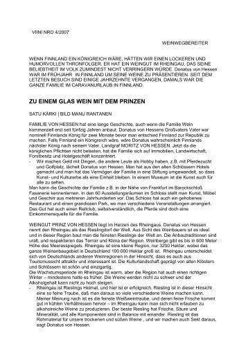 ZU EINEM GLAS WEIN MIT DEM PRINZEN - Weingut Prinz von ...
