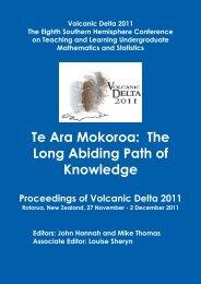 Proceedings of Volcanic Delta 2011 - Mathematics and Statistics ...