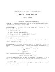 FUNCTIONAL ANALYSIS LECTURE NOTES CHAPTER 3. BANACH ...