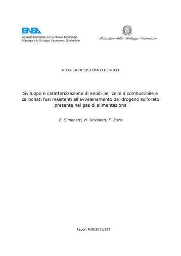 Sviluppo e caratterizzazione di anodi per celle a ... - Enea