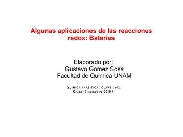 Algunas aplicaciones de las reacciones redox ... - DePa - UNAM