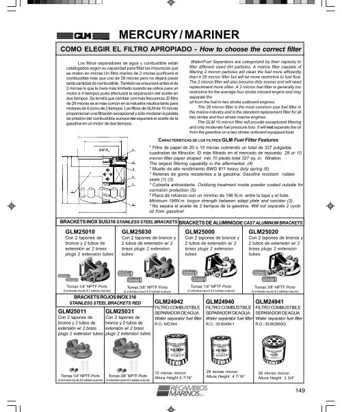 OEM Mercury 64877 1 Diaphragm GLM
