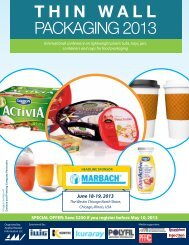 THIN WALL PACKAGING 2013 - Applied Market Information Ltd.