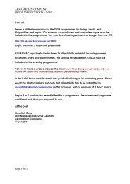 DESH Programme Credits JAN2013 - Akram Khan Company