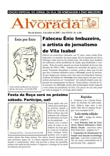 Faleceu Ênio Imbuzeiro, o artista do jornalismo de Vila Isabel