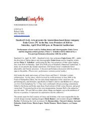 Stanford Lively Arts presents the Amsterdam-based dance company ...