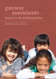 gateway assessments - Child, Youth and Family