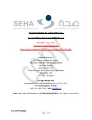 Request for Proposal No. SEHA-G-RFP-13-2012 Enterprise Master ...