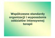 Wspó³czesne standardy organizacji i wyposa¿enia ... - WOIIB