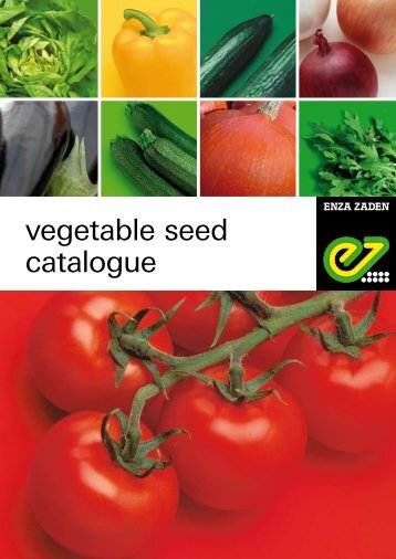vegetable seed catalogue - Enza Zaden