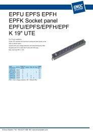 EPFU EPFS EPFH EPFK Socket panel EPFU/EPFS/EPFH/EPF K 19 ...