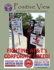 FIGHTING AT&T's CORPORATE GREED! - CWA Local 9421