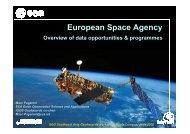 European Space Agency, overview of data ... - IGOS Geohazards