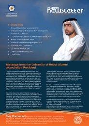 Newsletter - University of Dubai