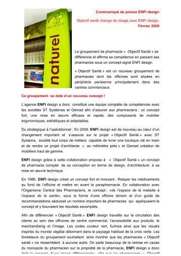Communiqué de presse ENFI design Objectif santé ... - KomLM
