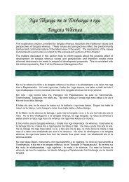 Nga Tikanga me te Tirohanga o nga Tangata Whenua