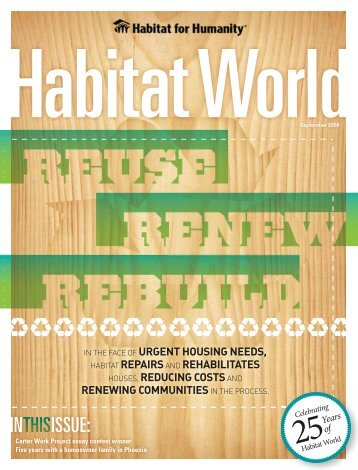 IN ISSUE: - Habitat for Humanity International