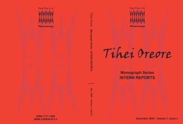 Intern Reports.indd - Ngā Pae o te Māramatanga