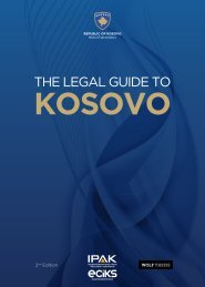 The Legal Guide to Kosovo - ECIKS
