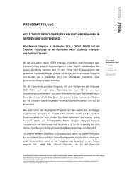 PRESSEMITTEILUNG - Wolf Theiss