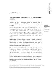 PRESS RELEASE - Wolf Theiss
