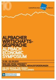 AlpbAcher WirtschAfts- gesprAche AlpbAch economic ... - Wolf Theiss