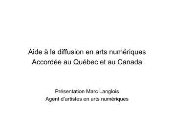Marc LANGLOIS - Canada - Arts numériques