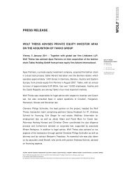 Download Press Release - Wolf Theiss