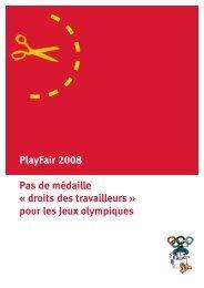 Pas de médaille 'droits des travailleurs' pour les Jeux Olympiques