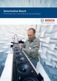 Sonorisation Bosch Pionnier de l'excellence acoustique