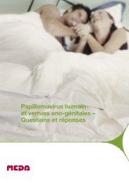 Papillomavirus humain et verrues ano-génitales – Questions ... - Meda