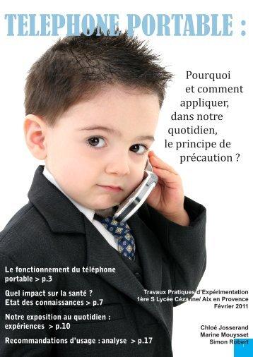 Rapport sur le téléphone portable - Association Santé ...