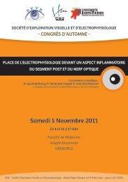 Congrès d'automne de la SEVE Programme et inscriptions