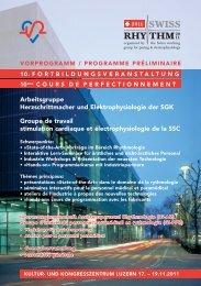 Arbeitsgruppe Herzschrittmacher und ... - Congrex Schweiz